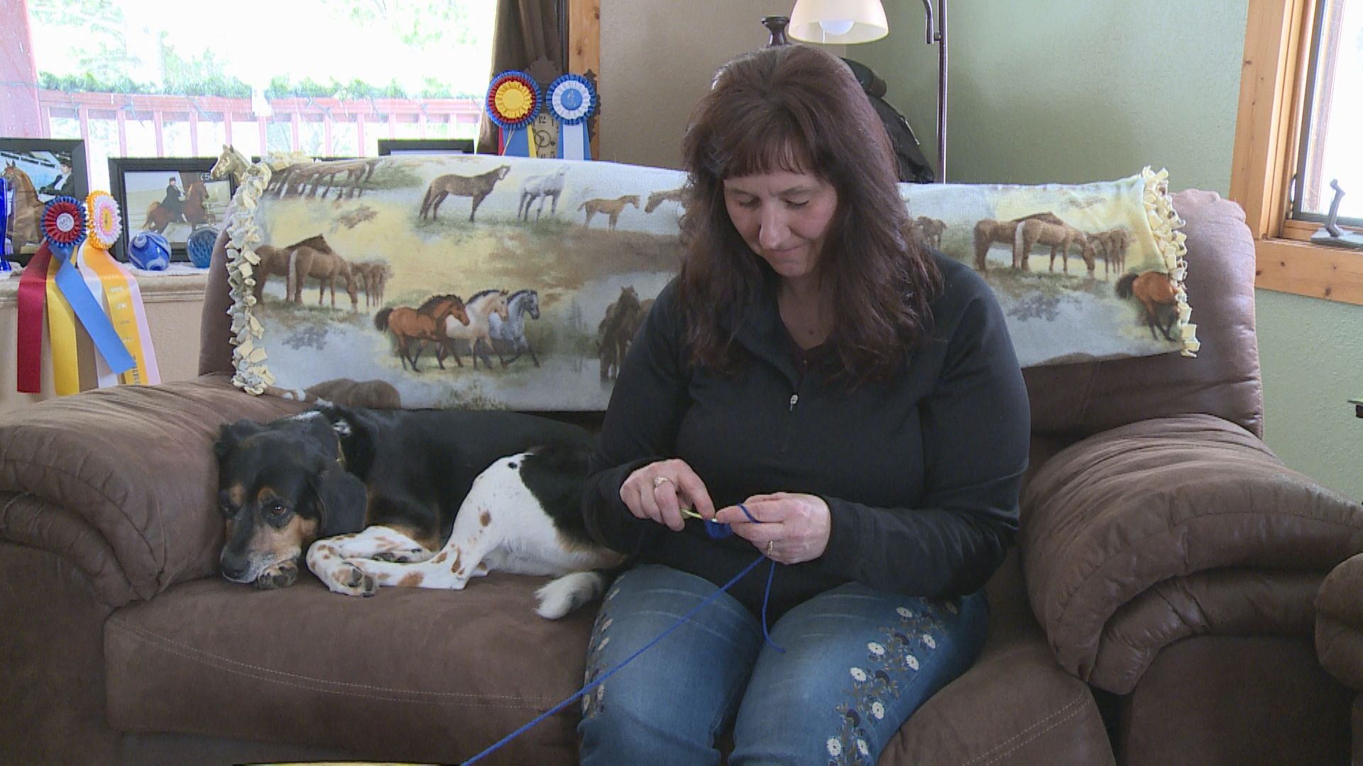 Merrill Woman Making Face Mask Bands To Help Health Care