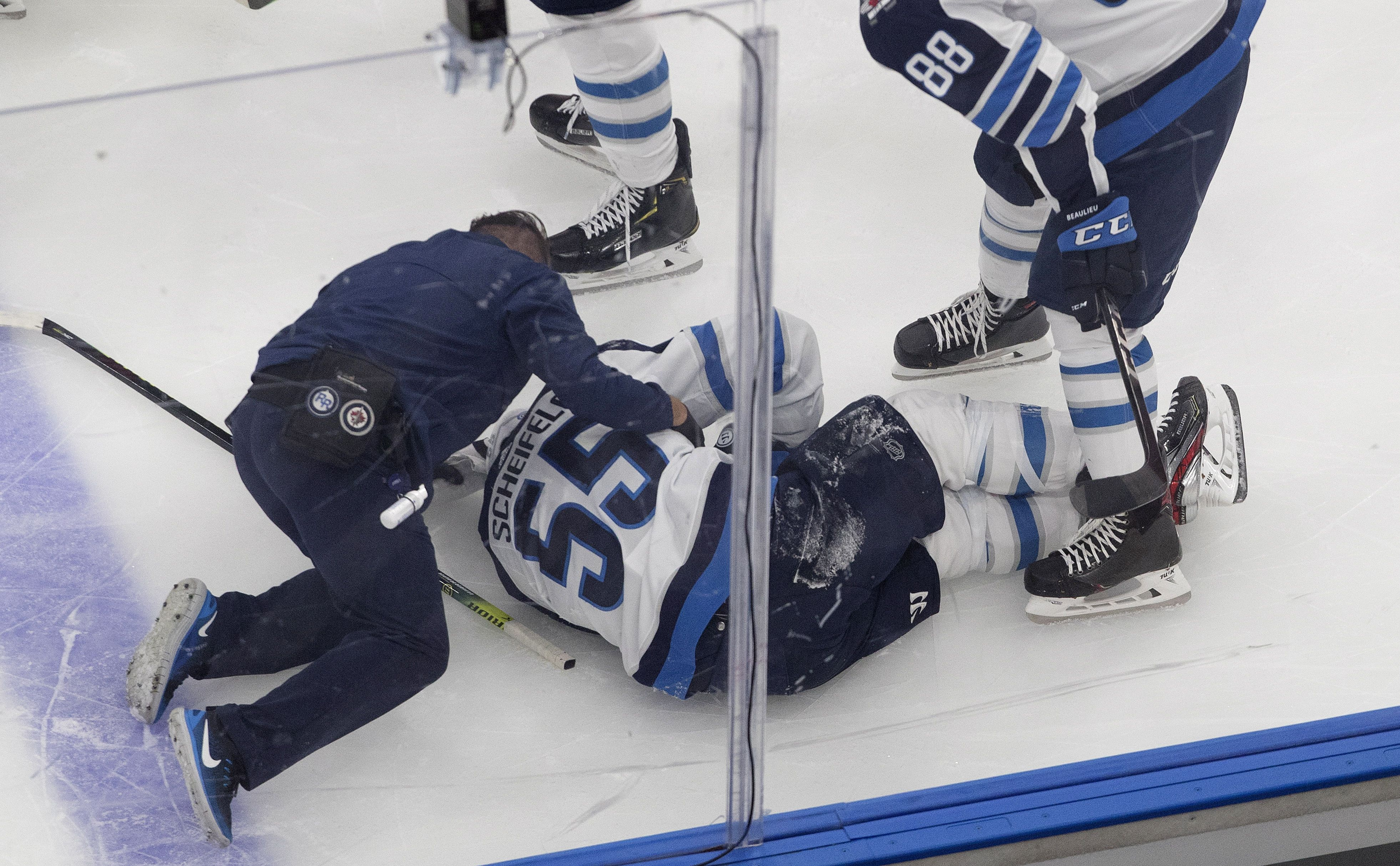 Jets Suffer Costly Losses In Dropping Game 1 To Flames The Boston Globe