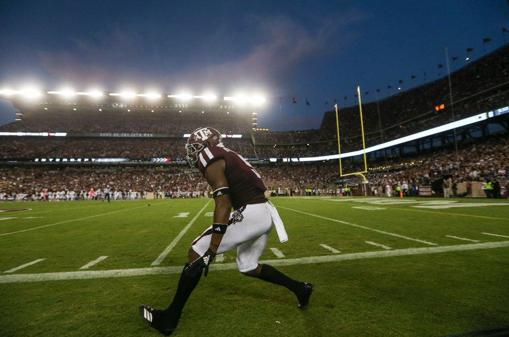 On A New Mission Texas A M Defense Rises Up For Trio Of First Half Ints Vs Texas State