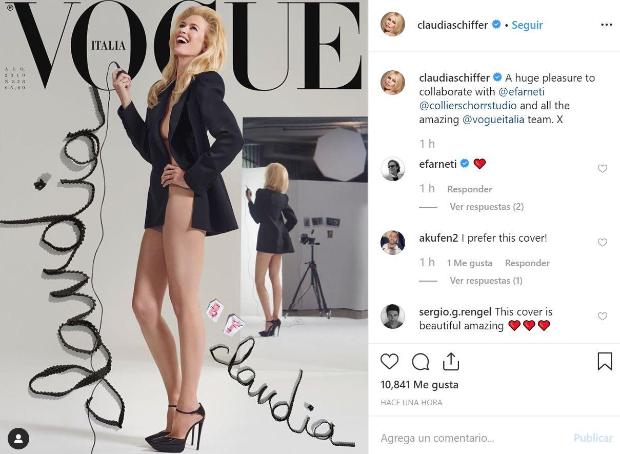 Claudia Schiffer Realiza Desnudo De Infarto Al Borde De Los 50 Años