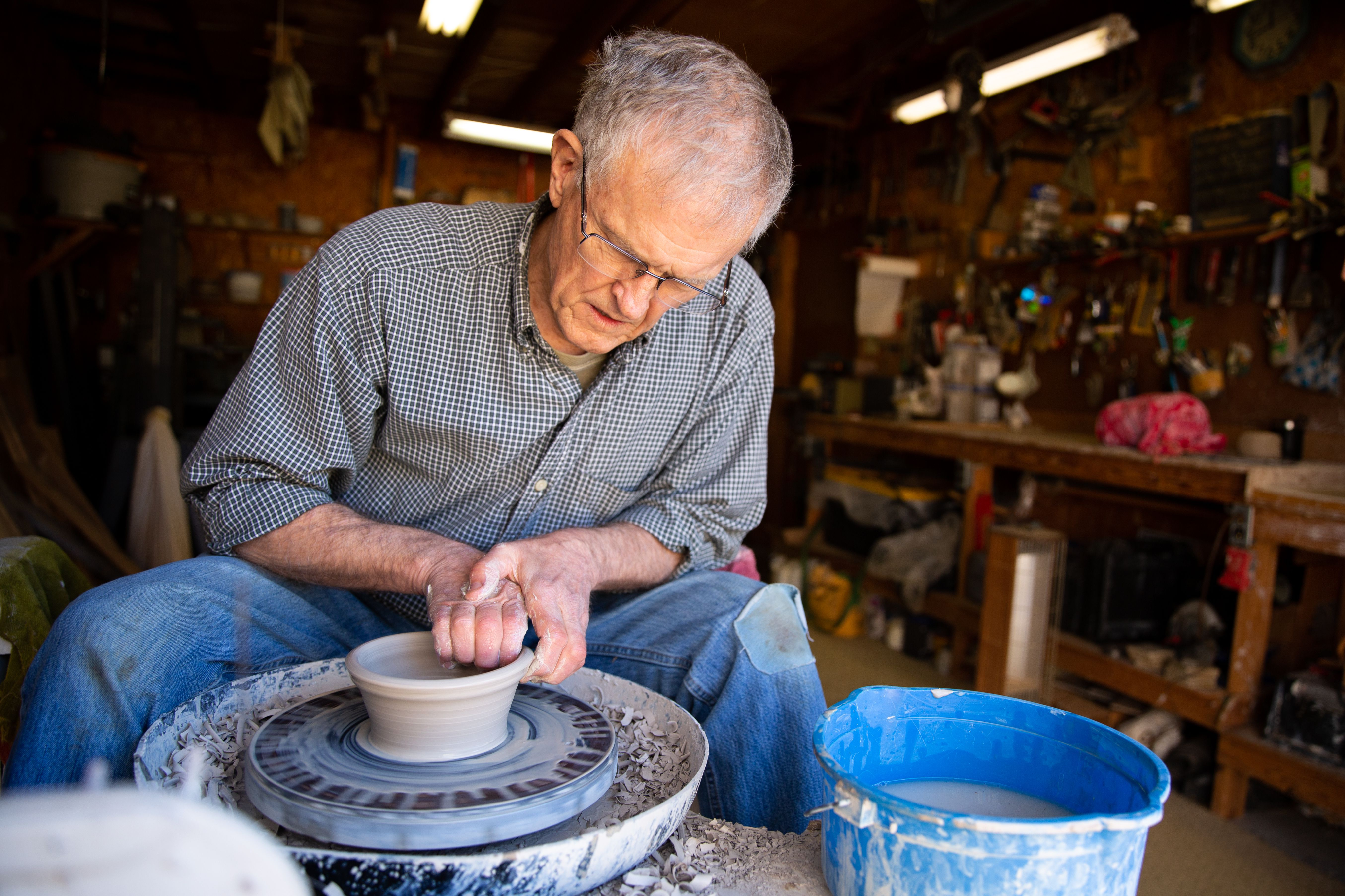 Retired engineer turns to pottery to help make the world a better