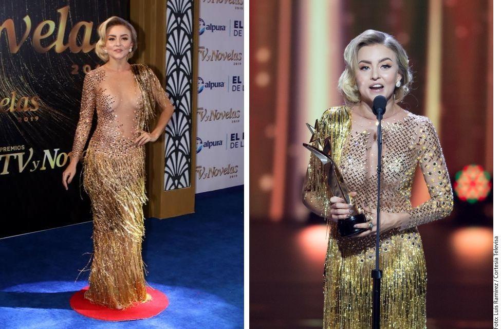 Angelique Boyer Usó El Vestido Al Revés En Los Premios Tv Y
