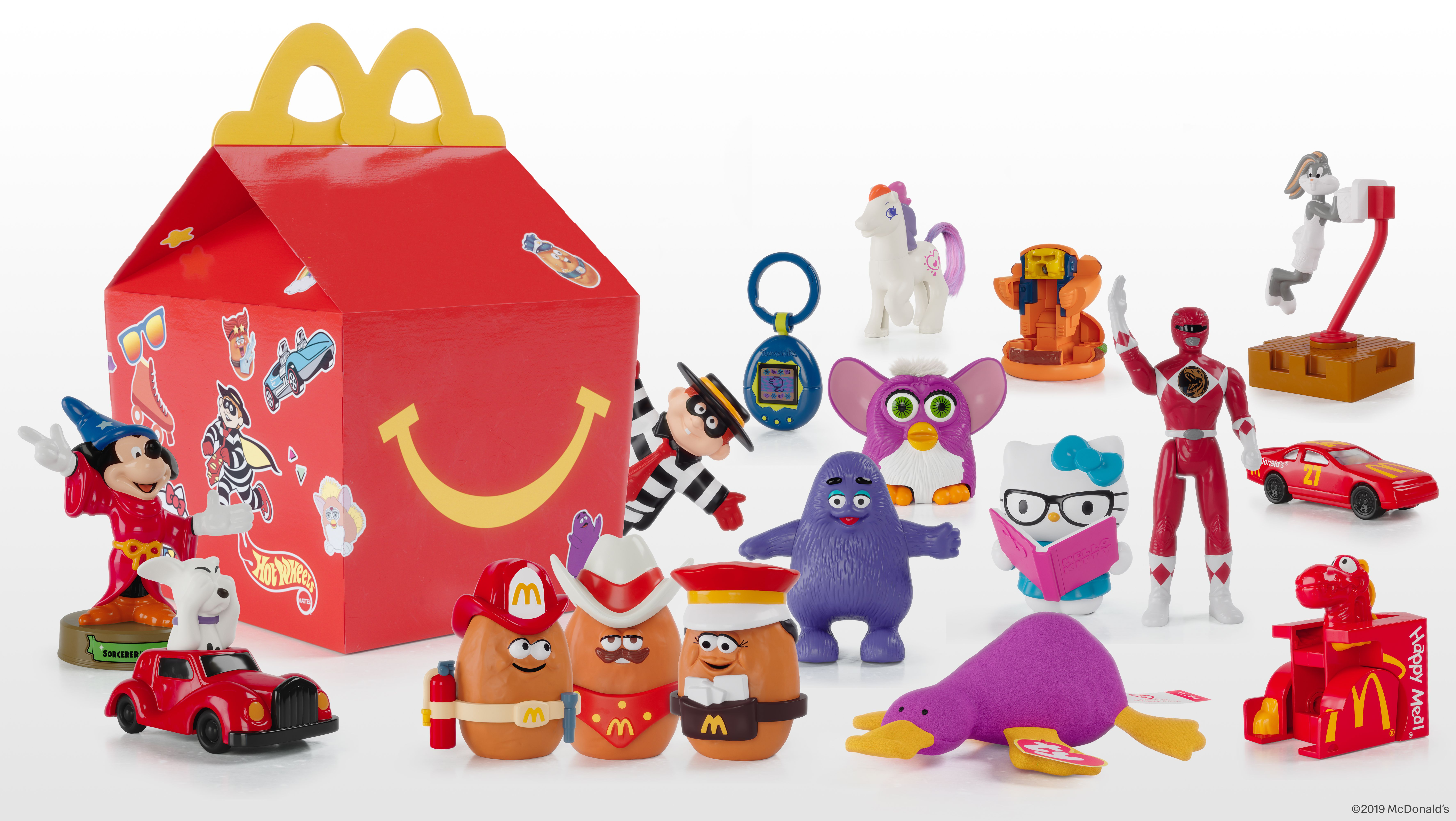 1988 McDonald/'s Happy Meal Food Changeables Toy Series 2 Set Boxes